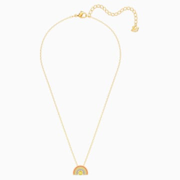 Swarovski Sparkling Dance Rainbow Necklace, Light multi-coloured, Gold-tone plated - Swarovski, 5521756