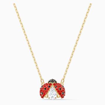 Collier Swarovski Sparkling Dance Ladybug, rouge, métal doré - Swarovski, 5521787