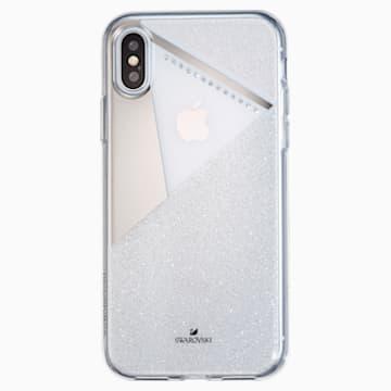 Subtle Smartphone Schutzhülle mit Stoßschutz, iPhone® X/XS, silberfarben - Swarovski, 5522076