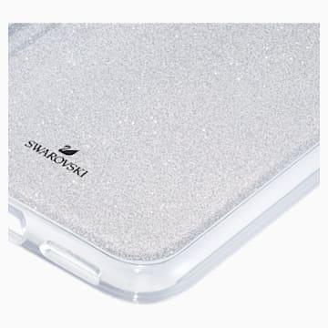 Coque rigide pour smartphone avec cadre amortisseur Subtle, iPhone® X/XS, ton argenté - Swarovski, 5522076