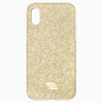 High Smartphone Case with Bumper, iPhone® X/XS, Gold tone - Swarovski, 5522086
