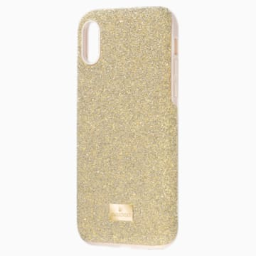 Funda para smartphone con protección rígida High, iPhone® X/XS, tono dorado - Swarovski, 5522086