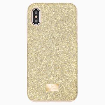 Custodia per smartphone con bordi protettivi High, iPhone® X/XS, tono dorato - Swarovski, 5522086