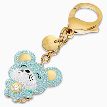 Zodiac Bag charm, Light multi-colored, Gold-tone plated - Swarovski, 5522153