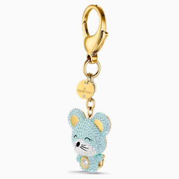 Zodiac Bag Charm, Light multi-coloured, Gold-tone plated - Swarovski, 5522153