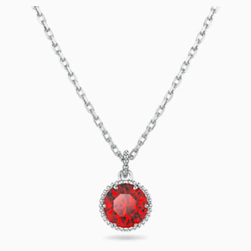 Birthstone 链坠, 一月, 红色, 镀铑 - Swarovski, 5522772