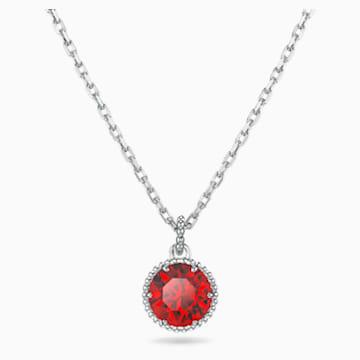 Pandantiv piatră zodiacală, ianuarie, roșu, placat cu rodiu - Swarovski, 5522772
