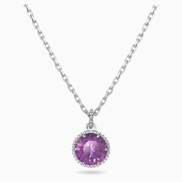 Colgante Birthstone, febrero, violeta, baño de rodio - Swarovski, 5522773