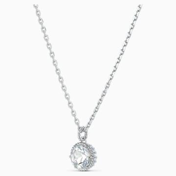 Přívěsek měsíční kámen, duben, bílý, rhodiovaný - Swarovski, 5522775