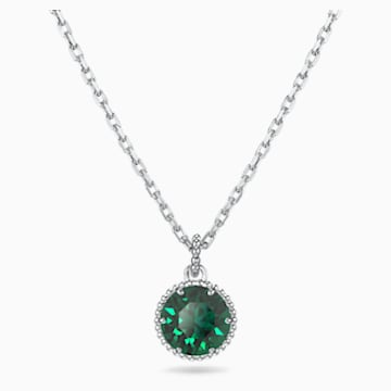 Birthstone Anhänger, Mai, grün, rhodiniert - Swarovski, 5522776