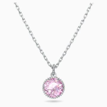 Colgante Birthstone, junio, rosa, baño de rodio - Swarovski, 5522778
