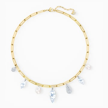 Collana So Cool Charm, bianco, mix di placcature - Swarovski, 5522860