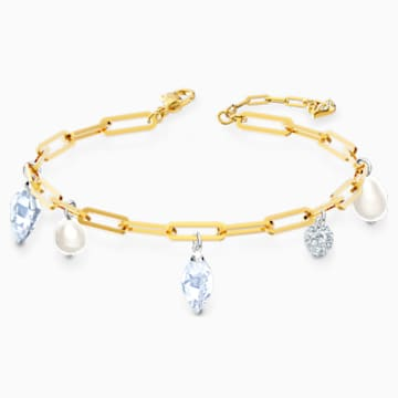 Bracelet So Cool Charm, blanc, finition mix de métal - Swarovski, 5522861