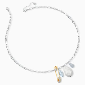 So Cool Cluster Necklace, White, Mixed metal finish - Swarovski, 5522875