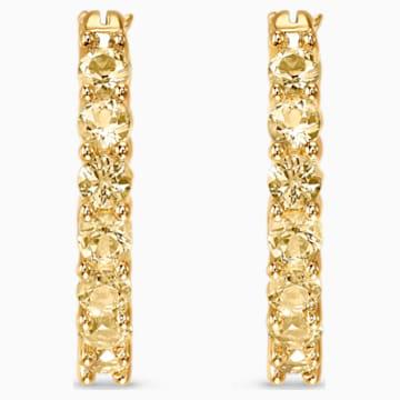 Orecchini a cerchio Vittore, tono dorato, placcato color oro - Swarovski, 5522880
