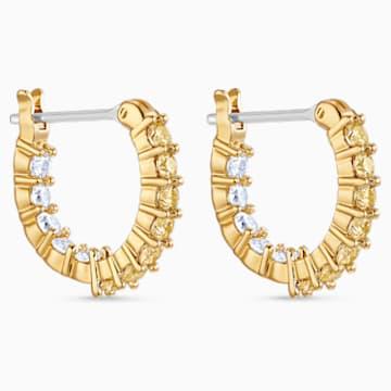 Vittore 穿孔耳环, 金色, 镀金色调 - Swarovski, 5522880