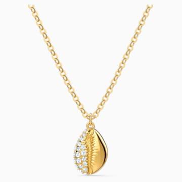 Pendentif Shell Pave, blanc, métal doré - Swarovski, 5522886