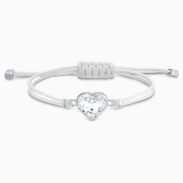 Bracelet Swarovski Power Collection Heart, blanc, acier inoxydable - Swarovski, 5523696