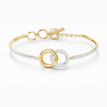 Bracelet-jonc Stone, blanc, finition mix de métal - Swarovski, 5523950