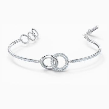 Bracelet-jonc Stone, blanc, métal rhodié - Swarovski, 5523953