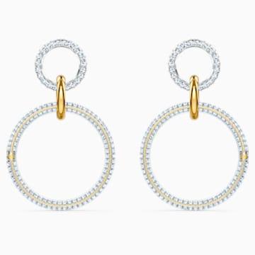 Stone 穿孔耳环, 白色, 多种金属润饰 - Swarovski, 5523991