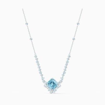 Sparkling 項鏈, 海藍色, 鍍白金色 - Swarovski, 5524137