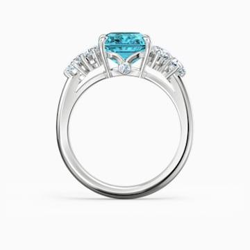 Sparkling gyűrű, vízkék, ródium bevonattal - Swarovski, 5524141