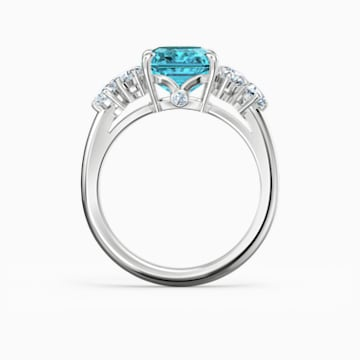 Sparkling Ring, türkis, rhodiniert - Swarovski, 5524141