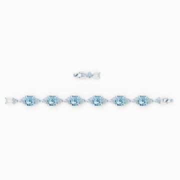 Pulsera Sparkling, turquesa, baño de rodio - Swarovski, 5524142