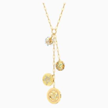 Náhrdelník Shine ve tvaru Y, světlý, vícebarevný, pozlacený - Swarovski, 5524186