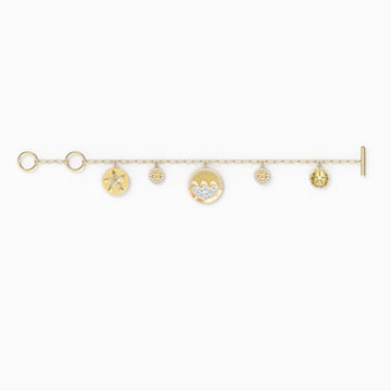 Shine Coins Armband, mehrfarbig hell, vergoldet - Swarovski, 5524188