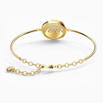 Bracelet-jonc Shine Wave, multicolore clair, métal doré - Swarovski, 5524191