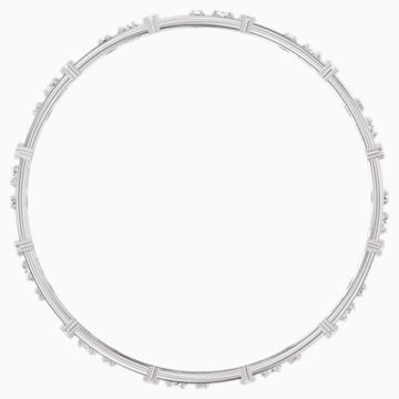 Penélope Cruz Moonsun Cluster Bangle, White, Rhodium plated - Swarovski, 5524267