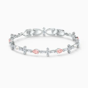 Braccialetto Perfection, rosa, placcato rodio - Swarovski, 5524544