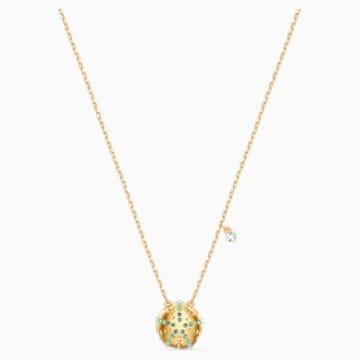 Pendentif Shine Urchin, vert, métal doré - Swarovski, 5524663
