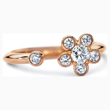 Bloom Ring, Swarovski Created Diamonds, 18K Rose Gold, Size 55 - Swarovski, 5524685