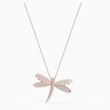 Collar Eternal Flower, blanco, baño tono oro rosa - Swarovski, 5524856