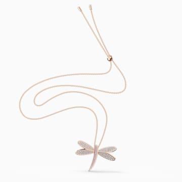 Collana Eternal Flower, bianco, placcato color oro rosa - Swarovski, 5524856
