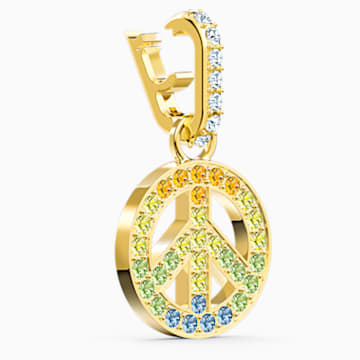 Swarovski Remix Collection Peace Charm, 淺色漸變, 鍍金色色調 - Swarovski, 5526998