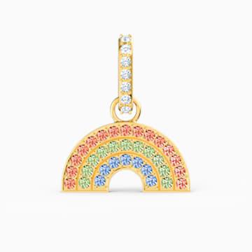 Charm Swarovski Remix Collection Rainbow, colores claros, baño tono oro - Swarovski, 5527005