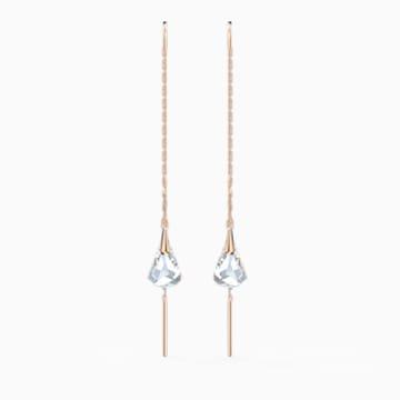 Boucles d'oreilles Spirit, blanc, métal doré rose - Swarovski, 5527396