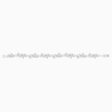 Diapason 手链, 白色, 镀铑 - Swarovski, 5528190