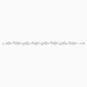 Diapason Armband, weiss, Rhodiniert - Swarovski, 5528190