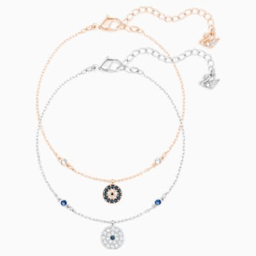 Crystal Wishes Evil Eye Set, Multi-coloured, Mixed metal finish - Swarovski, 5528199
