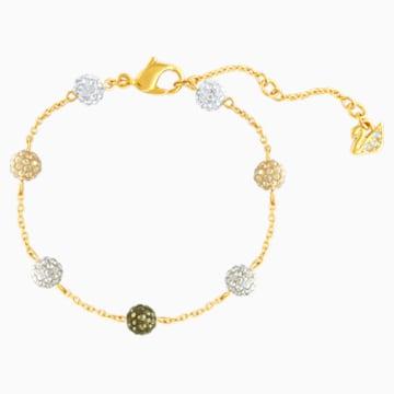 Blow Bracelet, Multi-coloured, Gold-tone plated - Swarovski, 5528202