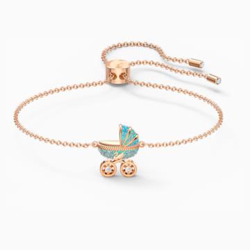 Sweet Carriage 手链, 浅色渐变, 镀玫瑰金色调 - Swarovski, 5528451