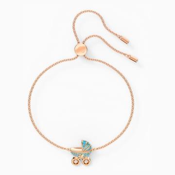 Sweet Carriage Bracelet, Light multi-colored, Rose-gold tone plated - Swarovski, 5528451