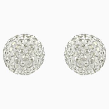 Blow Pierced Earrings, Grey, Mixed metal finish - Swarovski, 5528455