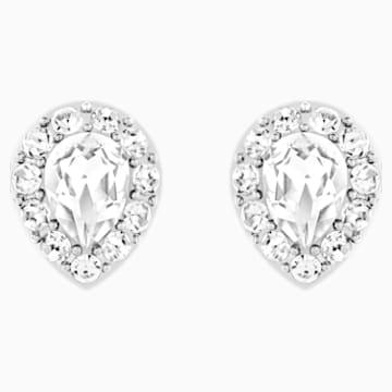 Boucles d'Oreilles « Ear-Jacket » Laina, blanc, Métal rhodié - Swarovski, 5528494
