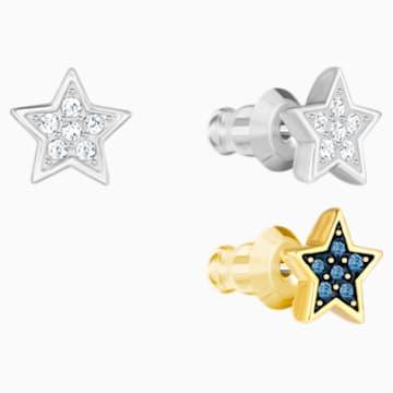 Conjunto de pendientes Crystal Wishes Star, multicolor, Combinación de acabados metálicos - Swarovski, 5528498